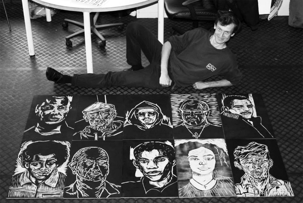 portret met portretten